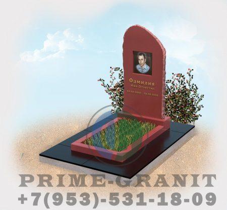фото Памятник из красного гранита Скала